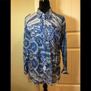 Ralph Lauren paisley top